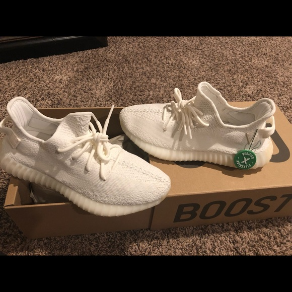 350s Men's Yeezy All White Authentic 5 Nwt 9 gfb6y7